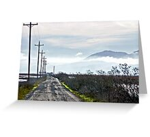 DRIVING DOWN THE GRAVEL ROAD Greeting Card