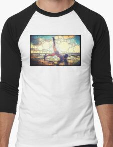 Yoga art 8 Men's Baseball ¾ T-Shirt