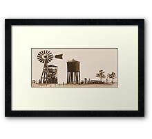 #554  Farm Scene 1880 Framed Print