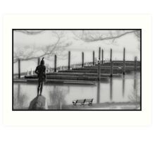 Plymouth By The Sea Art Print