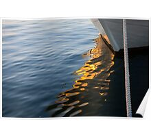 Reflecting on Yachts and Sunsets Poster
