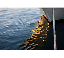 Reflecting on Yachts and Sunsets Photographic Print