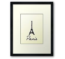 Paris Card Framed Print