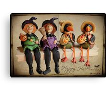 Tell Us A Happy Halloween Story! Canvas Print
