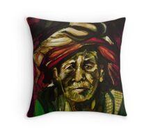Nepali elder Throw Pillow