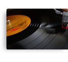 Vinyl Lives On Canvas Print