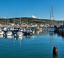 September Morning 2 ~ Lyme Regis Harbour by Susie Peek