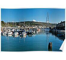 September Morning 2 ~ Lyme Regis Harbour Poster