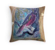 L'Oiseau Antique Throw Pillow
