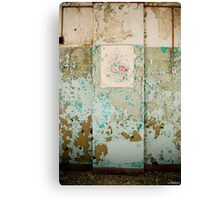 flowers for the one i hate. Canvas Print
