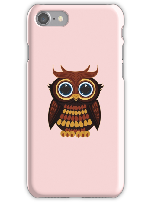 Friendly Owl - Pink by Adamzworld