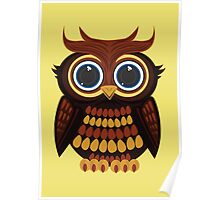 Friendly Owl - Yellow Poster
