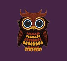 Friendly Owl - Purple Womens Fitted T-Shirt