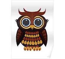 Friendly Owl Poster