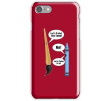 Lets Paint The Town! - Red iPhone Case/Skin