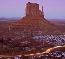 West Mitten and Light Trail by TheBlindHog