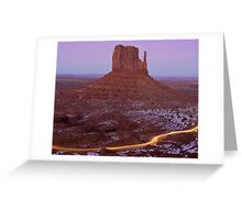 West Mitten and Light Trail Greeting Card