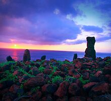 Historic Polynesian Navigational Markers, Kona by Lee Gunderson