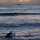 Sunset Waikiki Beach by Melva Vivian
