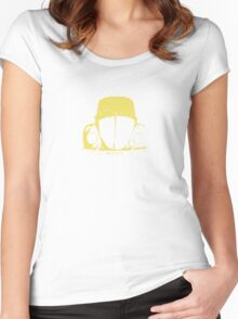 VW Beetle - Yellow Women's Fitted Scoop T-Shirt