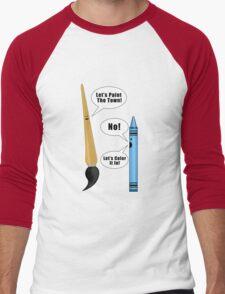 Lets Paint The Town! - Green Men's Baseball ¾ T-Shirt