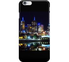 Night view of Melbourne iPhone Case/Skin