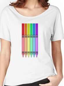 Rainbow Crayon Women's Relaxed Fit T-Shirt