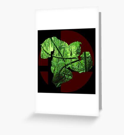 Sm4sh - Donkey Kong Greeting Card