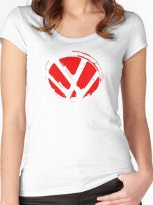 VW logo shirt  Women's Fitted Scoop T-Shirt