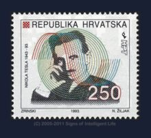 Tesla Stamp (Croatia) Kids Tee