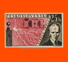 Tesla Stamp (Czechoslovakia) Kids Clothes