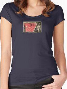 Tesla Stamp (Czechoslovakia) Women's Fitted Scoop T-Shirt