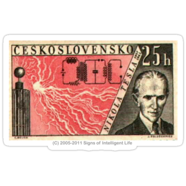 Tesla Stamp (Czechoslovakia) by SOIL