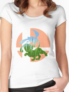 Sm4sh - Duck Hunt Women's Fitted Scoop T-Shirt