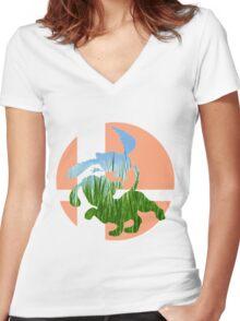 Sm4sh - Duck Hunt Women's Fitted V-Neck T-Shirt