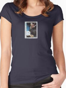 Tesla Stamp (Yugoslavia) Women's Fitted Scoop T-Shirt