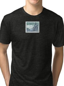 Tesla Stamp (Yugoslavia) II Tri-blend T-Shirt