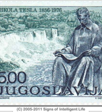 Tesla Stamp (Yugoslavia) II Sticker