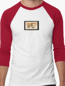 Tesla Stamp (United States) Men's Baseball ¾ T-Shirt