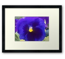Blue to You Too Framed Print