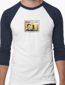 Tesla Stamp (Palau) Men's Baseball ¾ T-Shirt
