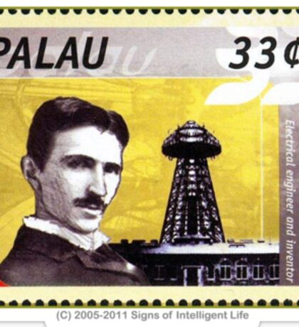 Tesla Stamp (Palau) Sticker