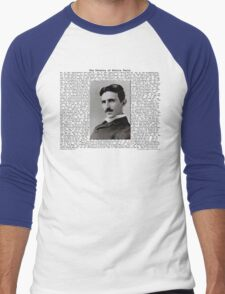 The Patents of Nikola Tesla Men's Baseball ¾ T-Shirt