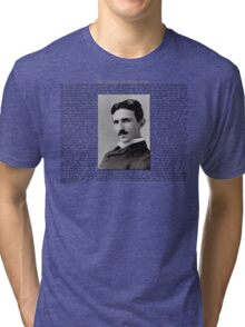 The Patents of Nikola Tesla Tri-blend T-Shirt