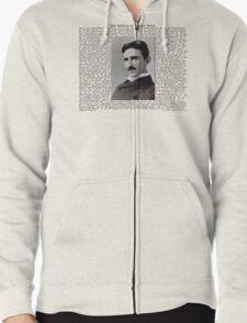 The Patents of Nikola Tesla Zipped Hoodie