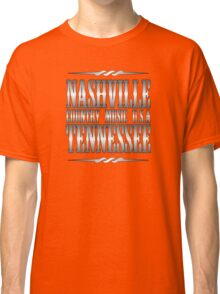 Silver Nashville Tennessee Country Music Classic T-Shirt