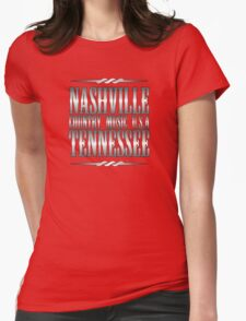 Silver Nashville Tennessee Country Music Womens Fitted T-Shirt