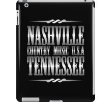 Silver Nashville Tennessee Country Music iPad Case/Skin