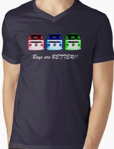 VW Kombi shirt - Bays are BETTER!!  Mens V-Neck T-Shirt