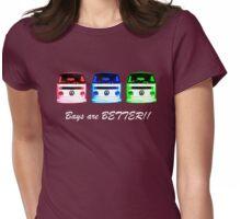 VW Kombi shirt - Bays are BETTER!!  Womens Fitted T-Shirt